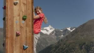Fest am Berg Klettern